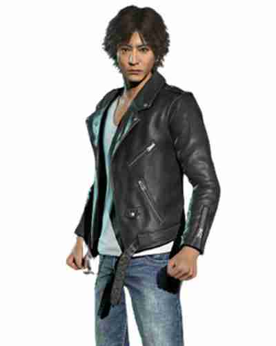 judgement yagami black leather biker jacket