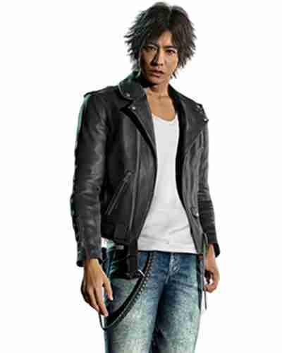 judgement yagami black leather jacket