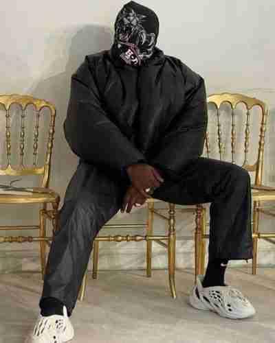 kanye west yeezy gap black round jacket