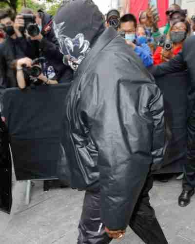 kanye west yeezy gap round black jacket