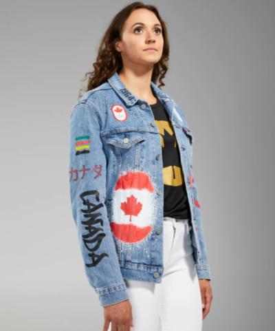 olympic 2021 team canada blue denim jacket