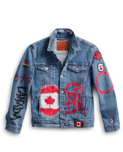 olympic 2021 team canada denim jacket