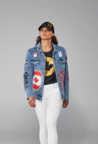 olympic 2021 team canada denim jacket for women