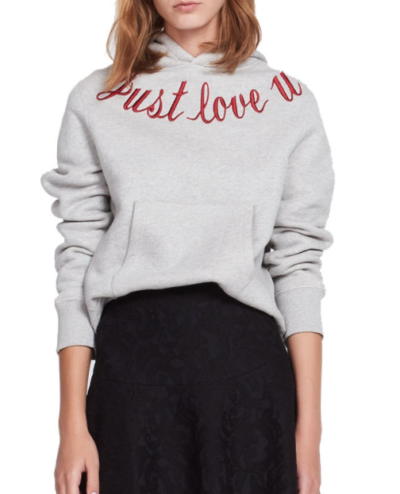 sandro just love u hoodie