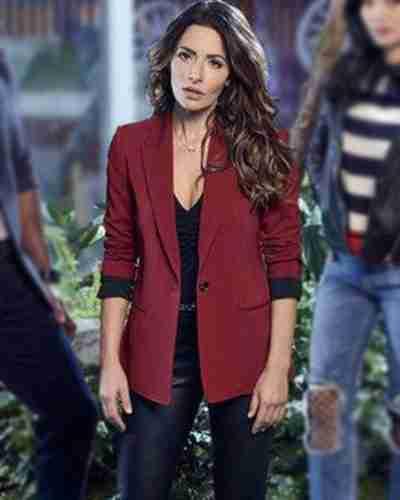 sexlife billie connelly maroon blazer