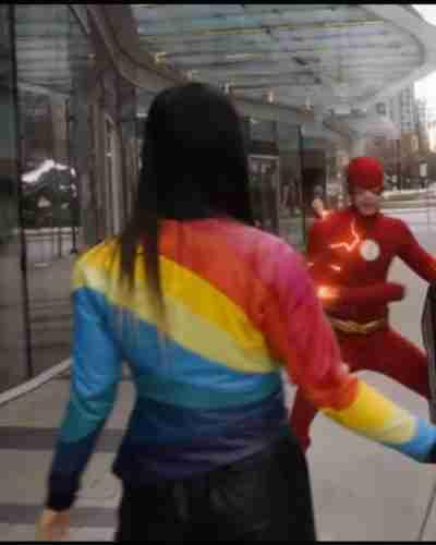 the flash season 07 jona xiao rainbow jacket