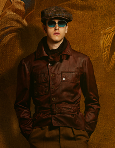 the king's man 2021 harris dickinson leather jacket