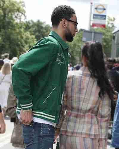wimbledon 2021 ben simmons green corduroy jacket