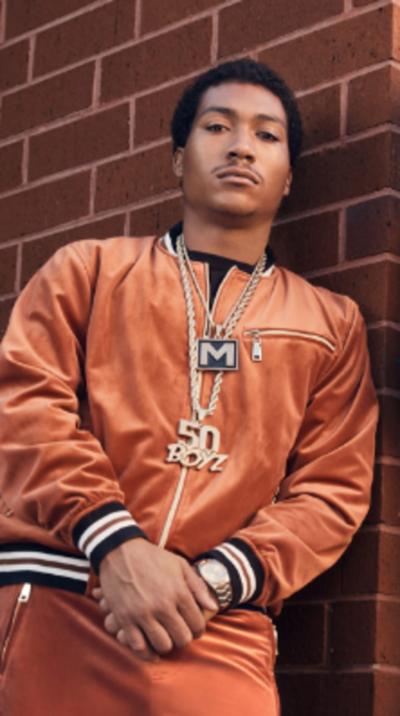 BMF S01 Lil Meech Brown Velvet Jacket