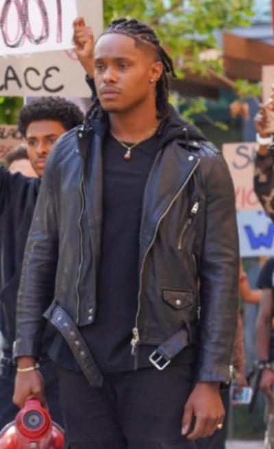 Grown-Ish Black Leather Jacket