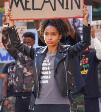 Grown-Ish Yara Shahidi Black Leader Jacket