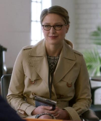 Supergirl Melissa Benoist Off White Coat