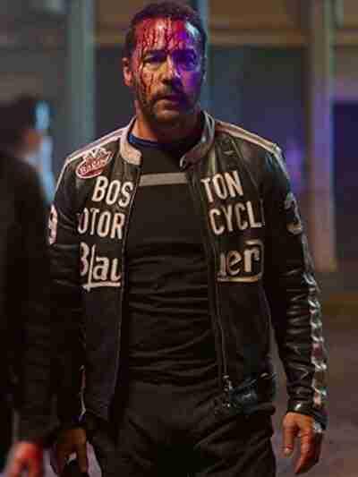 American Night Jeremy Piven Leather Black Jacket