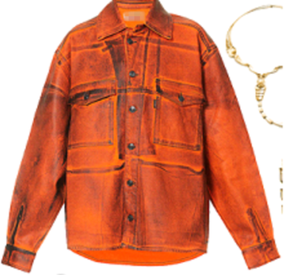 Camila Cabello Oversized Stretched Orange Jacket