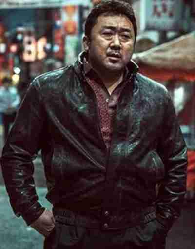Eternals 2021 Ma Dong-seok Black Leather Jacket