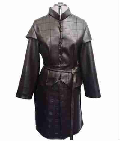 Game of Thrones Season Arya Stark Leather Coat