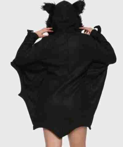 Girl Bat Hooded Jacket