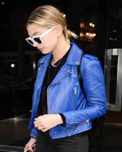 Hailey Bieber Leather Jacket