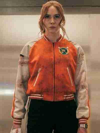 Karen Gillan Gunpowder Milkshake Bomber Jacket