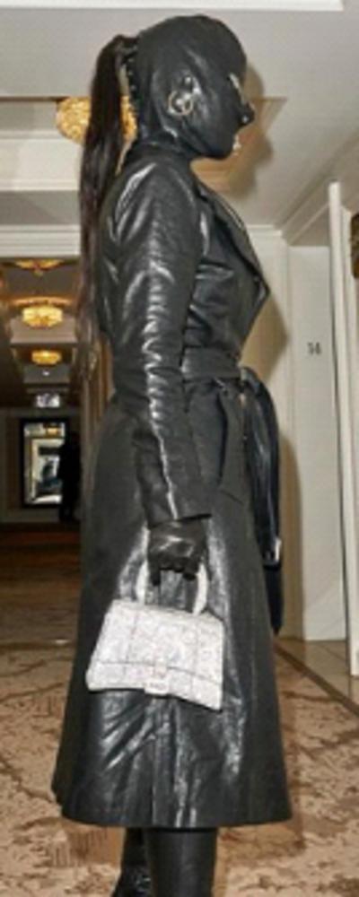 Kim Kardashian Black Trench Coat
