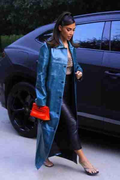 Kim Kardashian Trench Coat