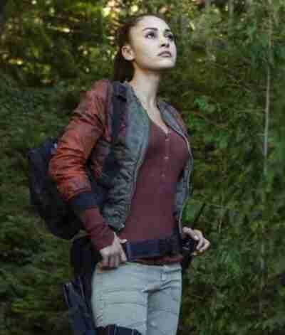 Lindsey Morgan The 100 Raven Bomber Jacket