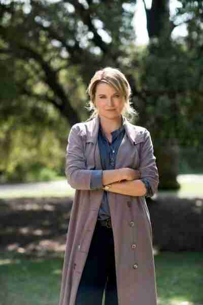 Lucy Lawless My Life Is Murder Trench Coat