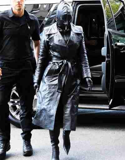 Met Gala 2021 Kim Kardashian Black Leather Coat