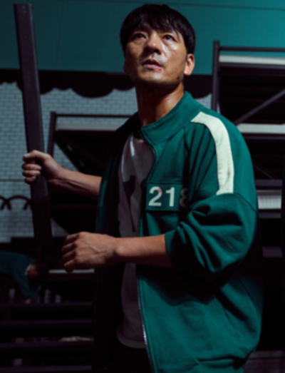 Squid Game Hoyeon Jung Green Jacket