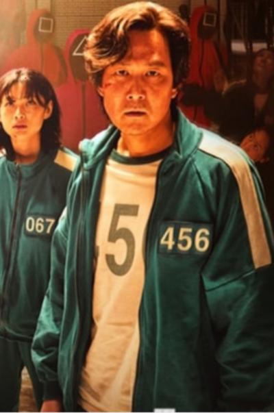 Squid Game Jung-jae Lee Green Track Jacket