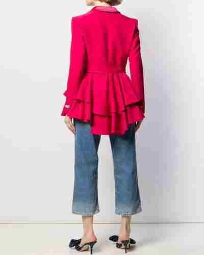 Ted Lasso Pink Heart Button Blazer