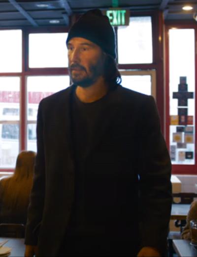 The Matrix Resurrections Keanu Reeves Black Blazer