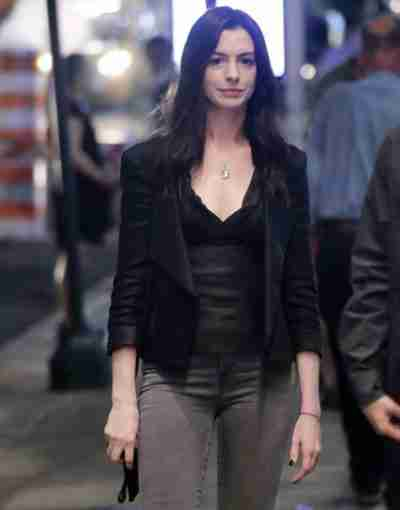 WeCrashed 2022 Anne Hathaway Leather Jacket