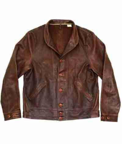 Albert Einstein Vintage Brown Leather Jacket