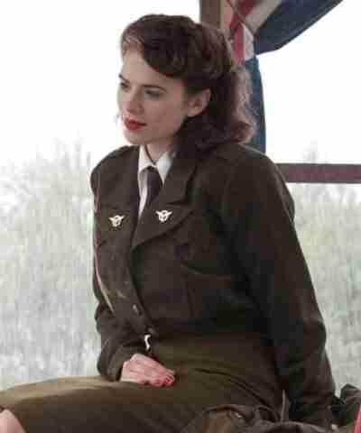 Captain America The First Avenger Peggy Carter Green Coat