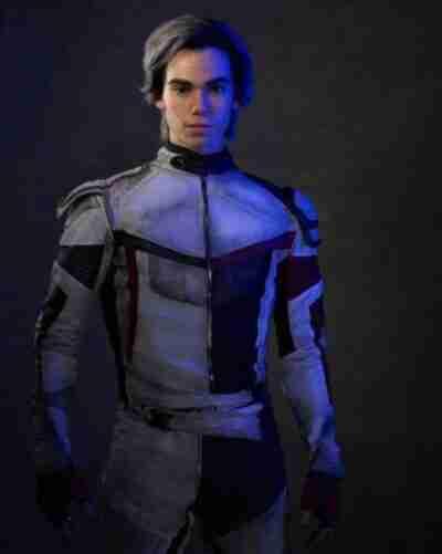 Carlos Descendants 3 Leather White Jacket
