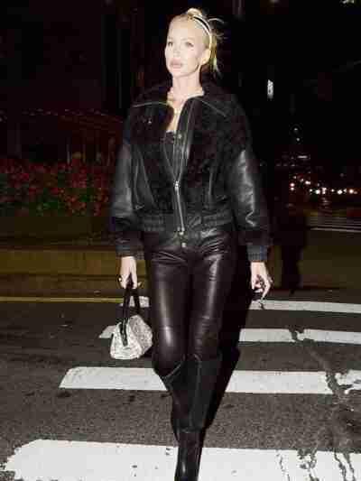 Christine Quinn Black Leather Jacket