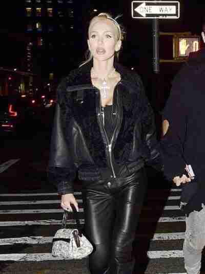 Christine Quinn Leather Black Jacket