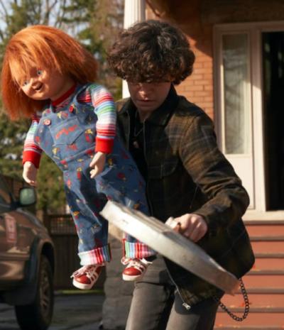 Chucky 2021 Zackary Arthur Green and Black Checked Jacket