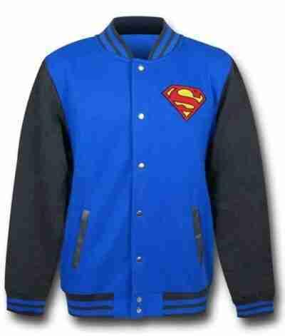 DC Comics Superman Bomber Varsity Jacket