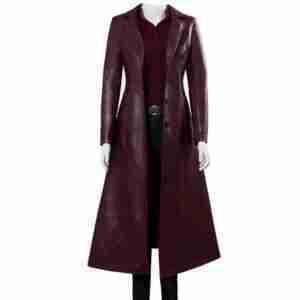 Dark Phoenix Jean Maroon Coat