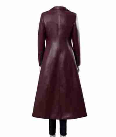 Dark Phoenix Jean Maroon Long Coat