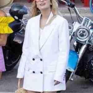 Emily In Paris Camille Razat White Blazer