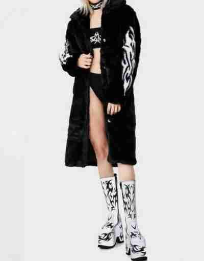 Fallen Angel Fur Black Coat