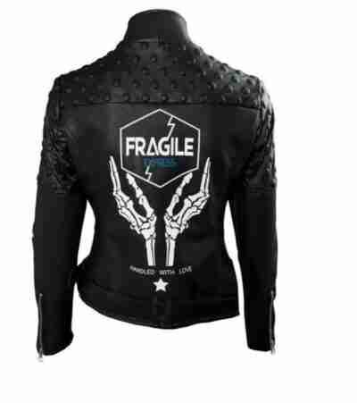 Fragile Express Death Stranding Leather Black Jacket