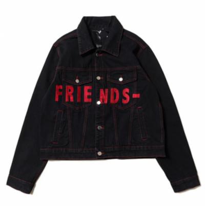Friends VLONE Denim Red Logo Jacket