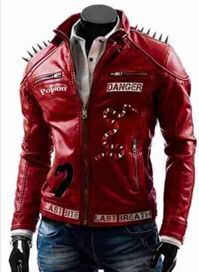 I Am Venomous Last Bite Snake Danger Studded Jacket