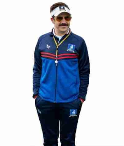 Jason Sudeikis Ted Lasso Coach Blue Tracksuit