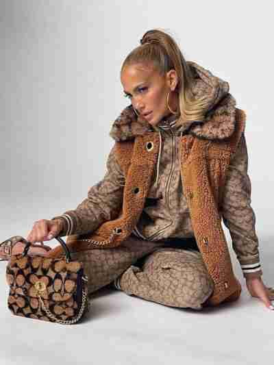 Jennifer Lopez Faux Fur Brown Vest