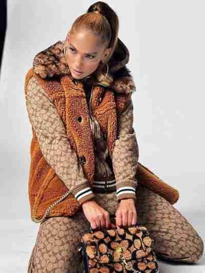Jennifer Lopez Fur Brown Vest